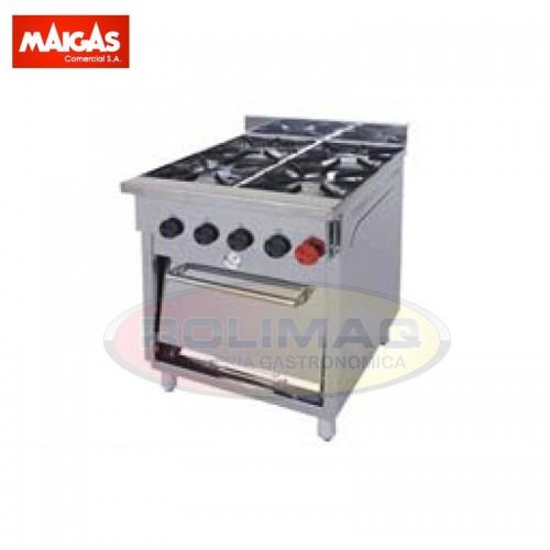 Cocinas Industrial 4 quemadores