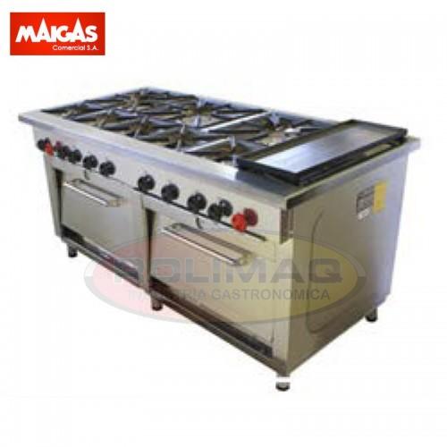 Cocina 8 platos 2 horno y churrasquera