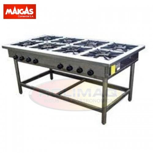 Anafe industrial 8 platos